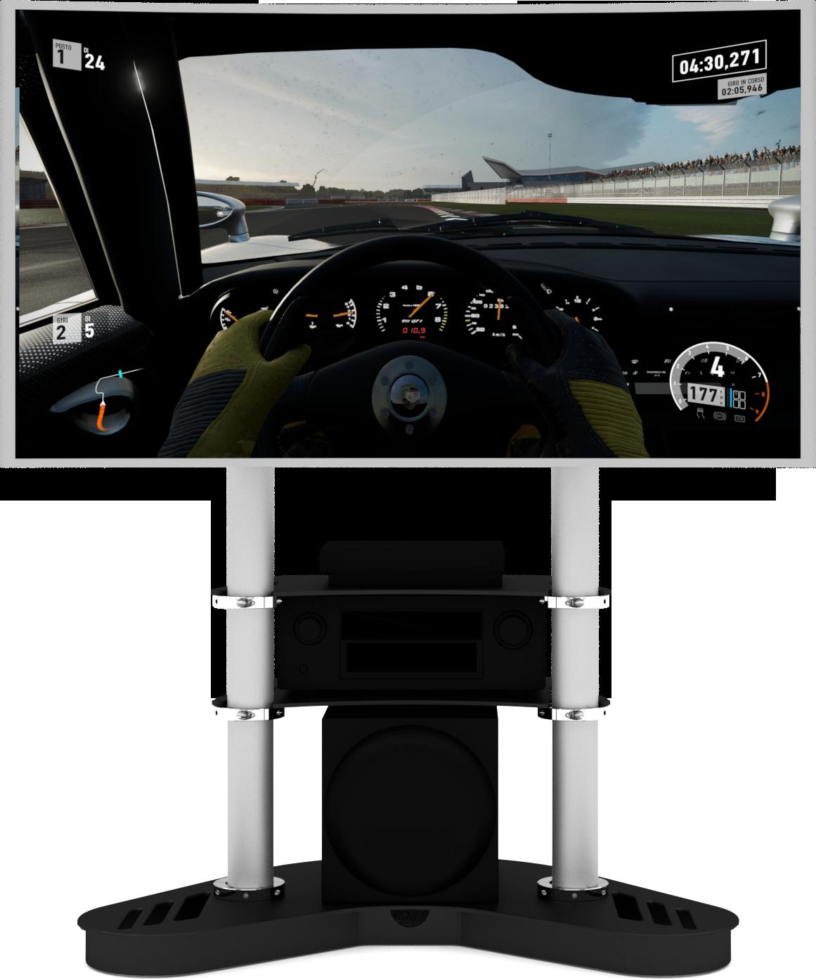 single screen display for racing simulator