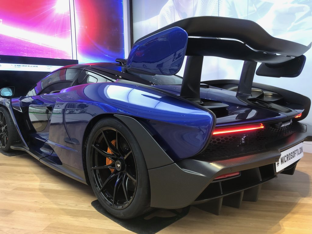 mclaren senna in microsoft london store