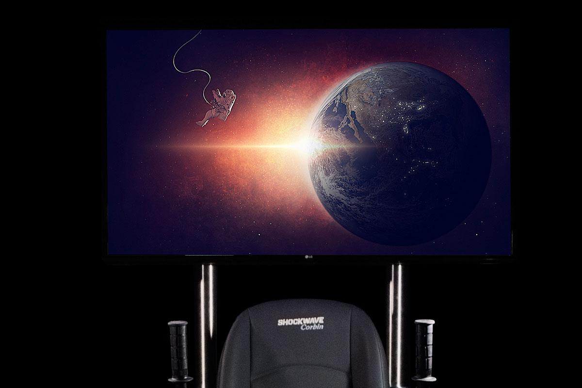 vr chair spectator screen
